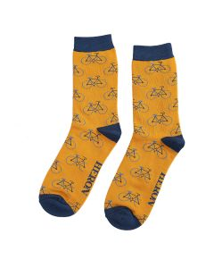Mr Heron Bikes Repeat Socks Mustard
