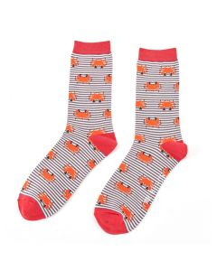 Mr Heron Crabs Socks Grey