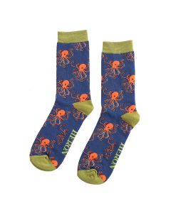 Mr Heron Octopus Socks Navy