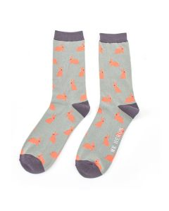 Mr Heron Rabbits Socks Aqua