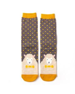 Mr Heron Sheepish Socks Grey