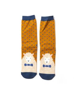 Mr Heron Sheepish Socks Mustard