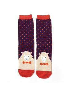 Mr Heron Sheepish Socks Purple