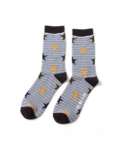Mr Heron Stars & Stripes Socks Black