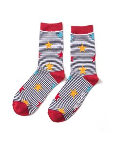 Mr Heron Stars & Stripes Socks Red