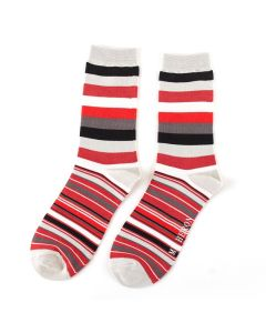 Mr Heron Thick & Thin Stripes Socks Silver
