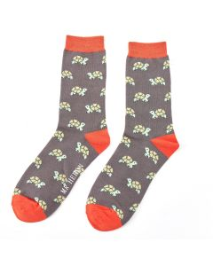 Mr Heron Turtles Socks Grey