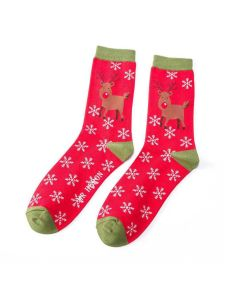Mr Heron Rudolph Socks Red