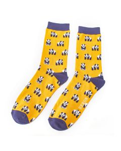 Mr Heron Pandas Socks Yellow