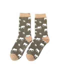 Elephant Socks Grey