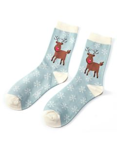 Rudolph  Socks Powder Blue