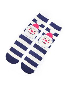 Mr Heron Santa Face Socks Navy