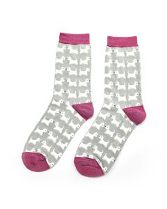 Scottie Dogs Socks Duck Egg