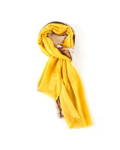 Two Tone Snakeskin Scarf Yellow