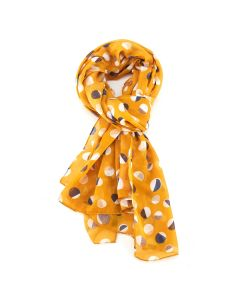 Half Circles Scarf Yellow