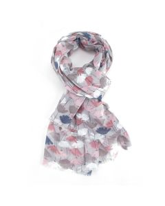 Tulips Scarf Silver