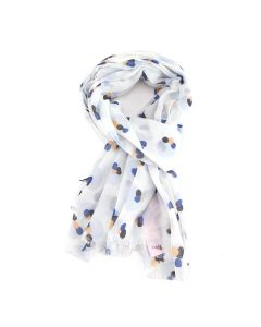 Painted Splodges Scarf White