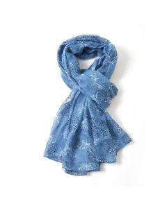 Retro Dandelions Scarf Denim