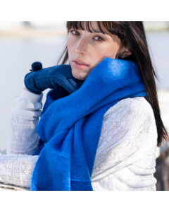 Soft Winter Plain Scarf Cobalt Blue