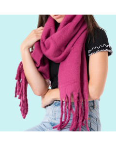 Soft Winter Plain Scarf Fuchsia