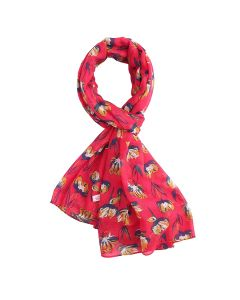 Open Tulips Scarf Hot Pink