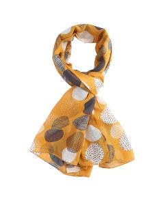 Sketched Spots Scarf Yellow