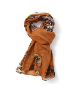 Pansies Scarf Orange