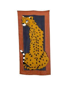 Cheetah Scarf Terracotta