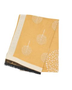 Trees with Border Scarf Yellow