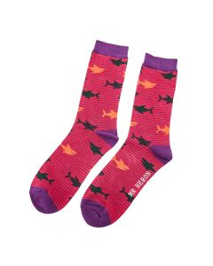 Mr Heron Sharks Socks Red