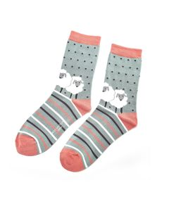 Sheep Friends Socks Aqua