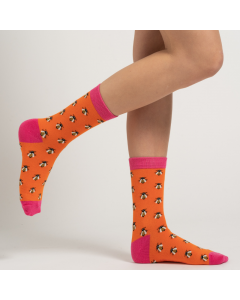 Honey Bee Socks Burnt Orange