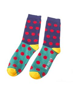 Mr Heron Spotty Socks Blue