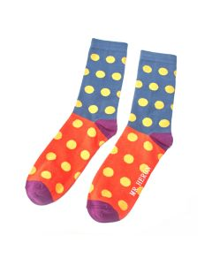 Mr Heron Spotty Socks Teal