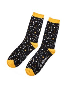 Mr Heron Star Signs Socks Black