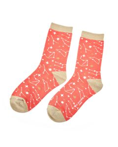 Star Signs Socks Orange