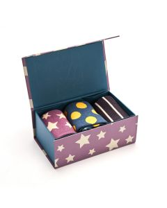 SPOTS STRIPES STARS SOCKS BOX