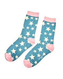 Stars Socks Teal