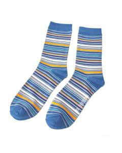 Mr Heron Stripes Socks Denim