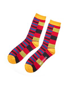 Mr Heron Thick & Thin Stripes Socks Red