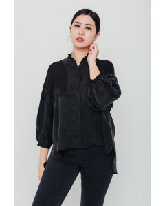 Black Patch Front Shirt