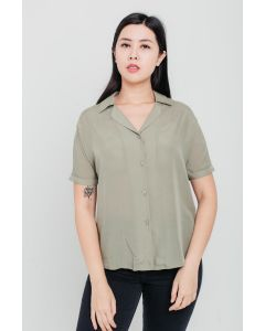 Green Tencel Linen Top