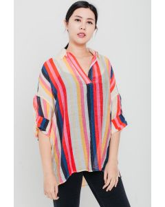 Multi Stripes Tunic Top