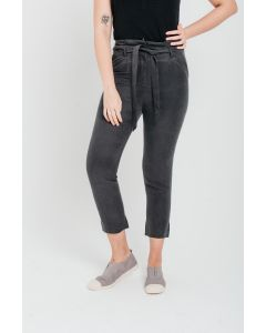 Dark Grey Linen Tencel Trousers