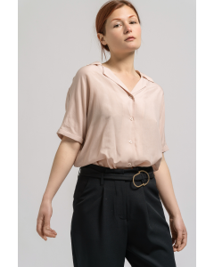 Pink Tencel Linen Top