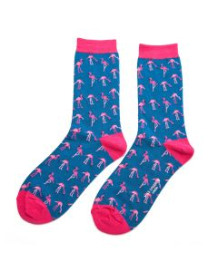 Wild Flamingo Socks Denim
