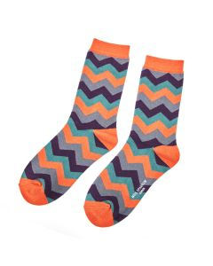 Zig Zag Socks Orange